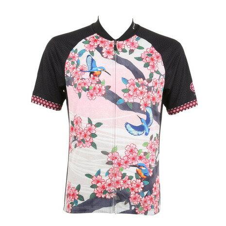 パールイズミ(PEARL IZUMI) S621B プリント ジャージ 【桜と翡翠】 メンズ 男性用 自転車 ウェア NS621B-10 (Men's)