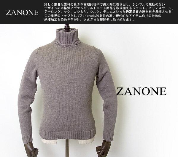 ZANONE(ザノーネ)/タートルネックニット/ラナウール/ミドルゲージ/イタリア製/メンズ/秋冬モデル/36720【送料無料】