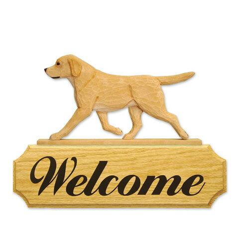 【送料無料】ウェルカムサイン 【ラブ(イエロー)】from USA (犬グッズ ウェルカムボード オーナーグッズ 玄関 開店祝い 犬雑貨 インテリア 看板 玄関グッズ セキュリティーグッズ)