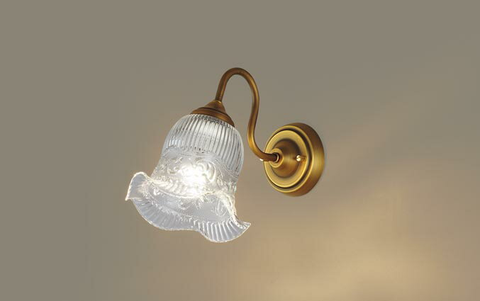 パナソニック壁直付型 LED(電球色) ブラケット 白熱電球40形1灯器具相当 ランプ付き