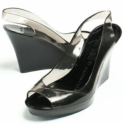 カルテルシューズ / Kartell shoes /  7800 BLACK/SMOKE サーモプラスチック ウエッジソール プラットフォーム オープントゥ バックストラップ サンダル ヒール9.5 / ブラックコンビ【送料無料】 ka7800-16s-black