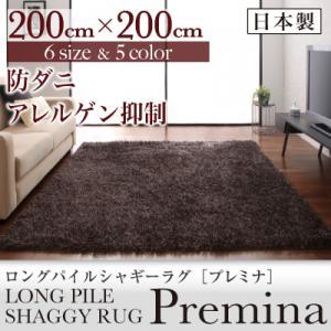 ロングパイルシャギーラグ【Premina】プレミナ 200×200cm40701223[02cover]