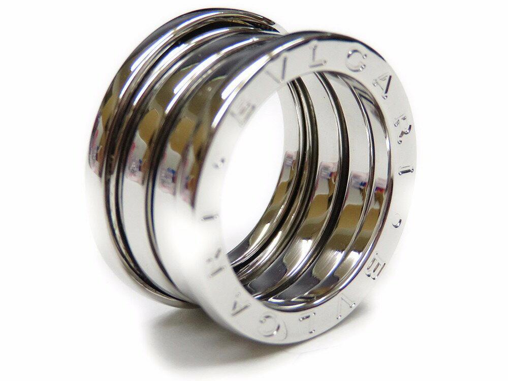 新品同様 仕上げ済み ブルガリ K18WG ビーゼロワン 3バンド リング 指輪 B-zero1 750 M サイズ48 0451【中古】BVLGARI