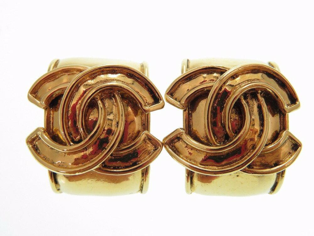 美品 シャネル ゴールド イヤリング ヴィンテージ アクセサリー ココマーク 0411【中古】Chanel