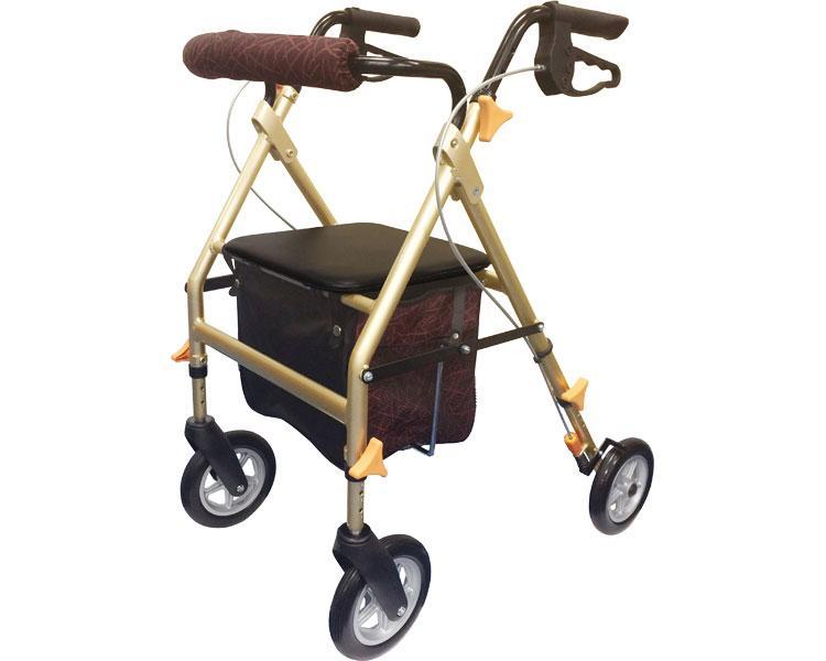 四輪歩行器 ライフ フィット / FT-18A エーアイジェイ(介護用品 歩行器 介護 高齢者 歩行器 シルバー)