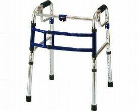 スライドフィット スタンダード 固定式幅伸縮歩行器 / H-0188 ハイタイプ  ユーバ(介護用品 歩行器 介護 高齢者 歩行器 シルバー)