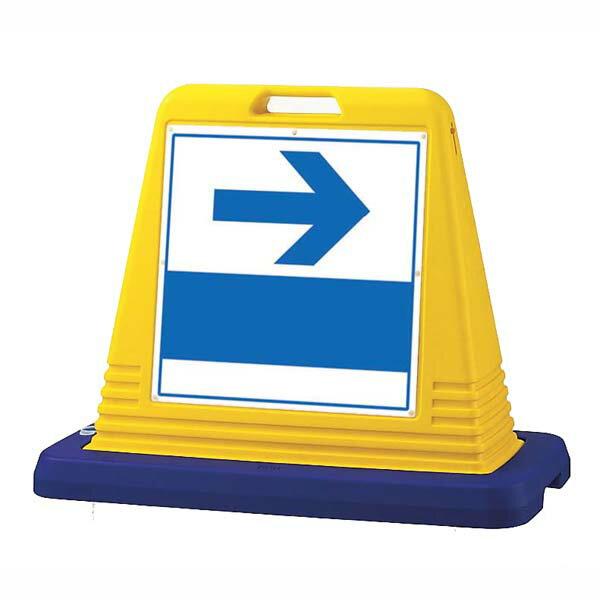 サインキューブ 右矢印 片面 WT付 ユニット 874-141A【駐車場用品 各種施設案内表示 事務所 店舗 入口】
