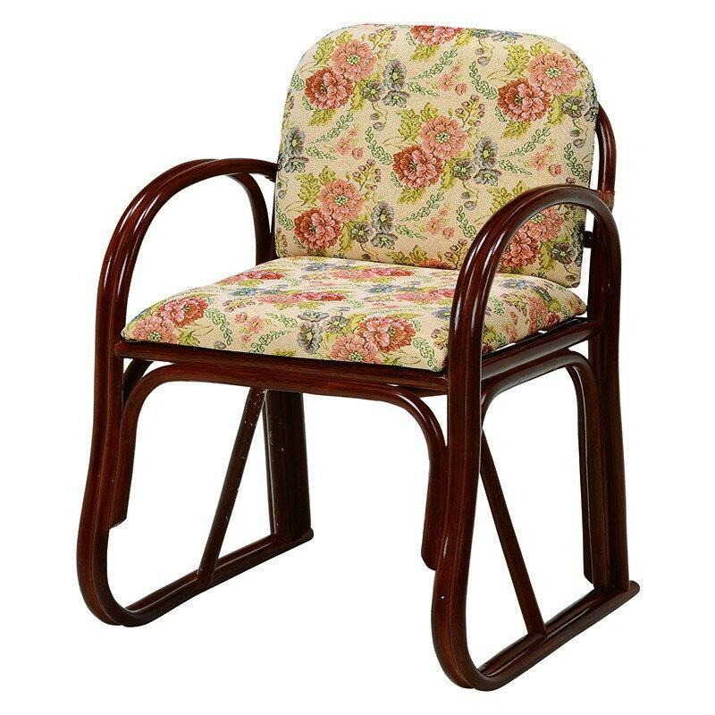 【送料無料】楽々座椅子 高級感あるジャガード織り生地を使用