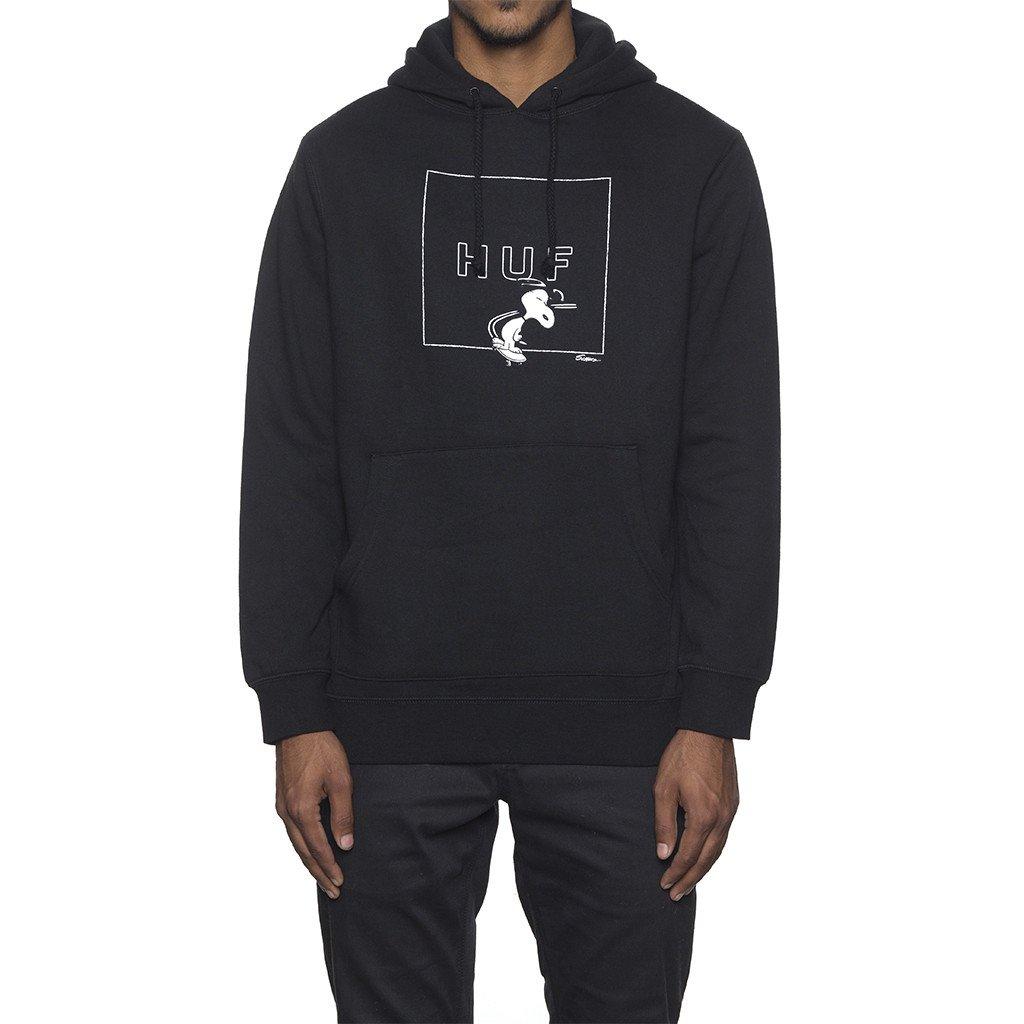 HUF X SNOOPY BOX LOGO HOOD BLACK ハフ スケートボード スヌービー