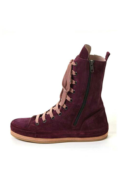 【CLEARANCE-SALE 30%OFF|135,000円→94,500円】 ANN DEMEULEMEESTER アンドゥムルメステール SHOES SCAMOSCIATO AUBERGINE + SCAMOSCIATO MACARON{1314234302038/131-4234-302-038-ACS}{PS30}