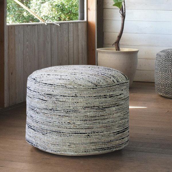 スツール ラウンドスツール エスニック調 直径50cm ( 送料無料 オットマン 椅子 丸型 座椅子 チェア イス 布張り )