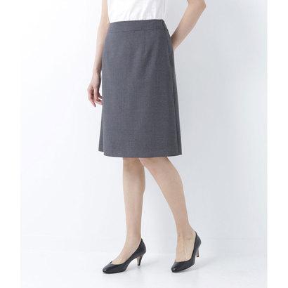 ニューヨーカー NEWYORKER 【吸水速乾】クールマックス Aラインスカート(手洗い可能) (ミディアムグレー)