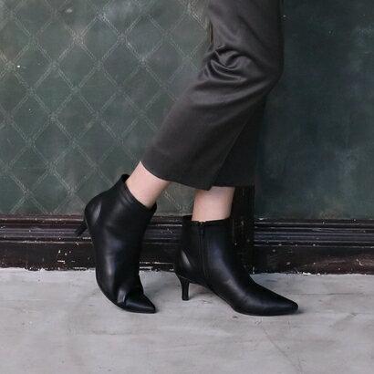 【2017AW】ラウナレア Launa lea ポインテッドトゥショートブーツ (ブラック)