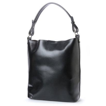 イグジスタンス EXISTENCE バケツ型スクエアトートバッグ (ブラック)