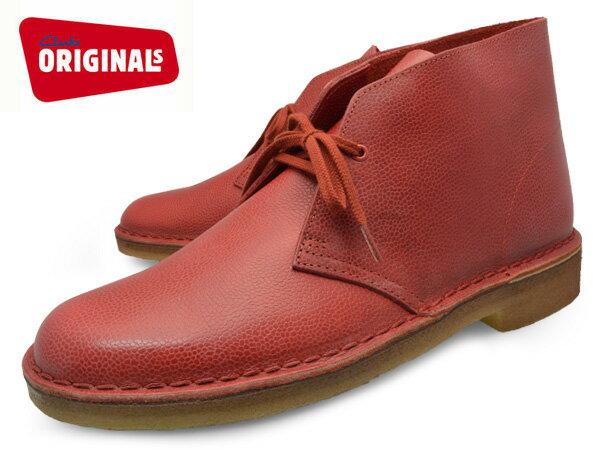 CLARKS DESERT BOOTRED INTEREST LEATHER 20356343クラークス  デザートブーツ レッド インタレスト レザー メンズ UK企画 クレープソール【送料無料】 靴 くつ P25Apr15