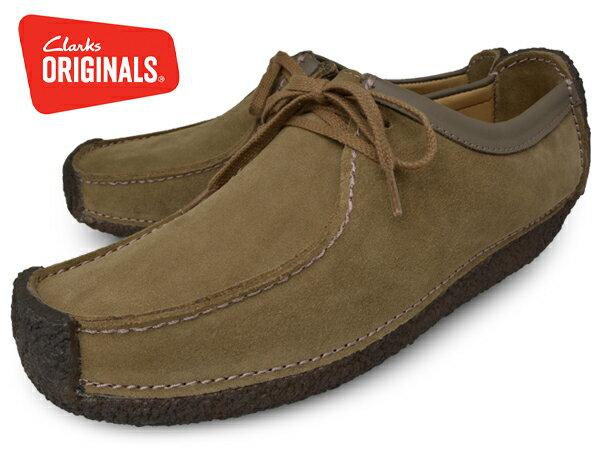 【送料無料】CLARKS NATALIEOAKWOOD SUEDE 107987G クラークス ナタリー オークウッドスウェード 本革 UK企画 クレープソール ローカット 靴 くつ