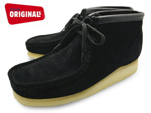 クラークス ワラビー ブーツ ブラック スエード US規格 ( CLARKS WALLABEE BOOT 35409 BLACK SUEDE US ) くらーくす メンズ(男性用) 靴 ブーツ シューズ ブランド 本革 送料無料