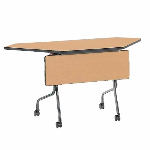 【期間限定!全品ポイント5倍~】 フォールディングテーブル SR-1245CP 幕板付き 机 ルキット オフィス家具 インテリア