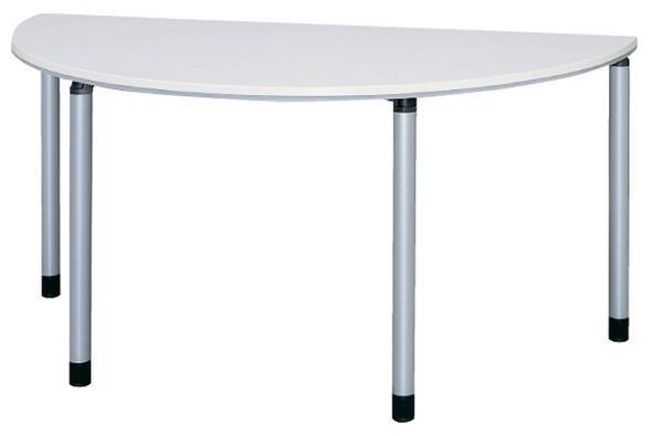 【期間限定!全品ポイント5倍~】 会議テーブル 半円 ミーティングテーブル 会議用テーブル 半円テーブル ET-1575R ルキット オフィス家具 インテリア