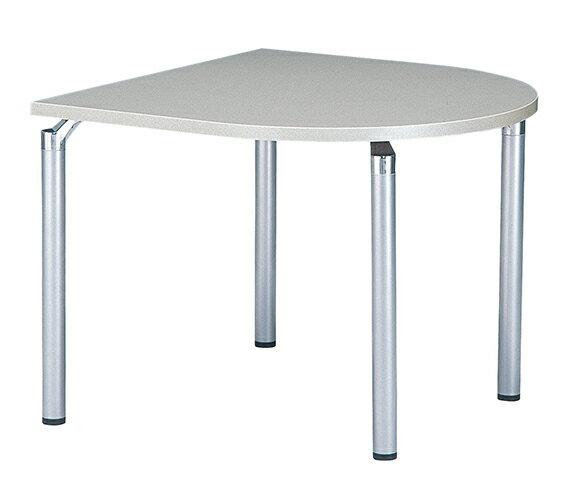 【期間限定!全品ポイント5倍~】 ミーティングテーブル 半楕円形 アルミ脚 打合せ用 特価 GK-0909Q