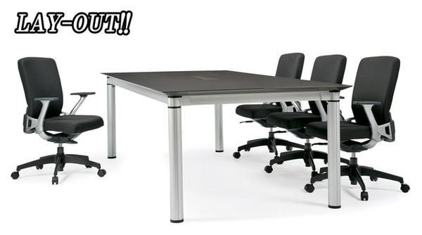会議テーブル KSJ-2412W ミーティング用 人気商品 LOOKIT オフィス家具 インテリア