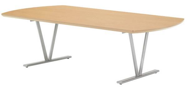 ★新品★ 会議テーブル NDS-2412 デスク パイプ脚 シャープ LOOKIT オフィス家具 インテリア