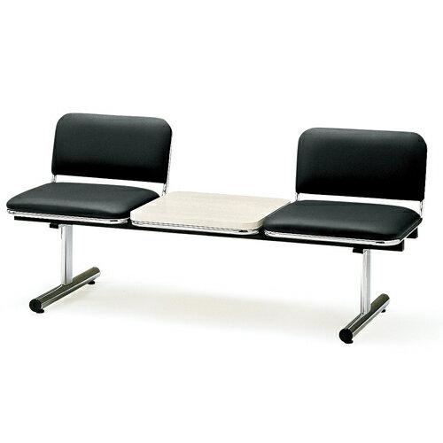 【期間限定!全品ポイント5倍~】 ロビーチェア 2人用 ベンチ テーブル付き 抗菌 防汚 シンプル カラフル 椅子 チェア ロビー オフィス FTL-2TL
