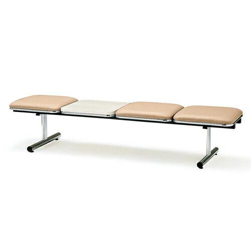 【期間限定!全品ポイント5倍~】 ロビーチェア 3人用 ベンチ テーブル付き 抗菌 防汚 シンプル カラフル 椅子 チェア ロビー オフィス FTL-3TL