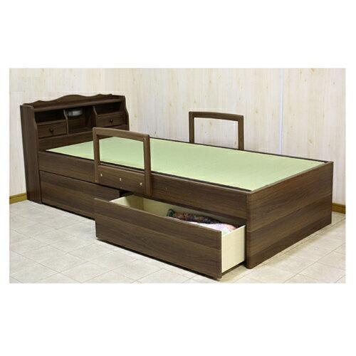畳ベッド セミダブル 収納付きベッド 介護ベッド ライト付き スイートSD