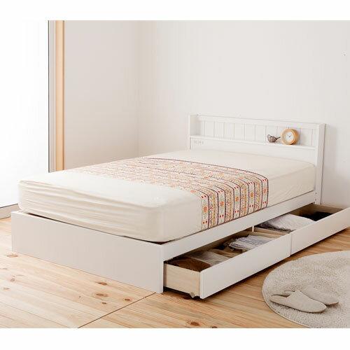 【期間限定!全品ポイント5倍~】 送料無料 収納ベッド セミシングル レギュラー マットレス付き 日本製フレーム ボンネルコイルマットレス セミシングルベッド 寝具 FMB81-SS-R