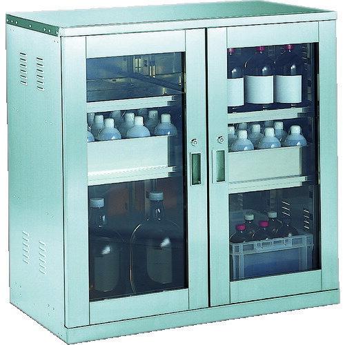 TRUSCO トラスコ中山 耐震薬品庫 ガラス両開型 棚スライド式 900X500XH900 [SW]  SW 販売単位:1  送料無料