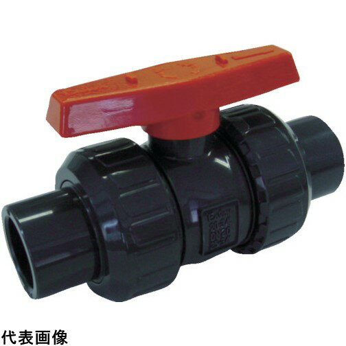 エスロン ボールバルブ TS式 本体PVC OリングEPDM 50 [BV50SX]  BV50SX 販売単位:1  送料無料