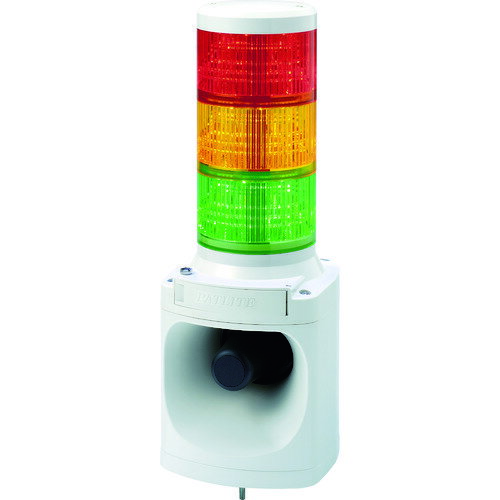 パトライト LED積層信号灯付き電子音報知器 [LKEH302FARYG]  LKEH302FARYG 販売単位:1  送料無料