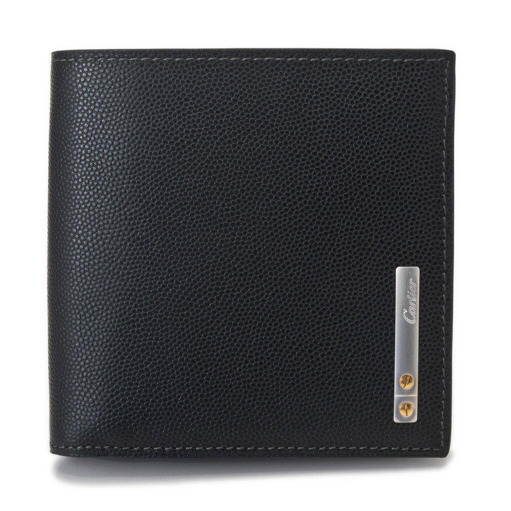 Cartier カルティエ 財布 L3000772 ブラック サントス