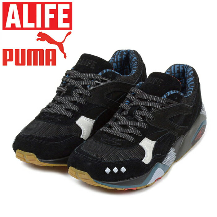 【SALE】PUMA×ALIFE プーマ×エーライフ 360827-01R698×ALIFE BLACKアール698×エーライフ ブラック コラボ ハイテク キックス シューズ スニーカー 店舗限定 メンズ 靴 ブラック/グレーシャーグレー 国内正規 40%OFF