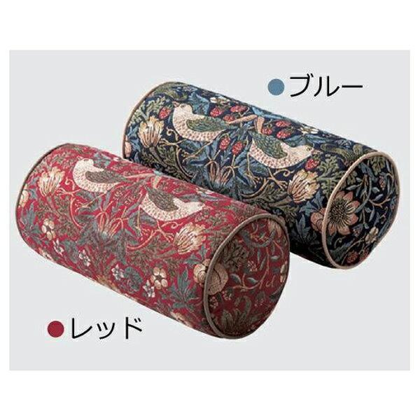 川島織物セルコン モリスデザインスタジオ いちご泥棒 ボルスター型クッション 40×18Rcm LL1710