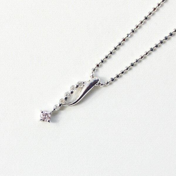 ピンクダイヤモンドペンダント/ネックレス