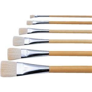 (まとめ)アーテック 日本画筆/描画用具 【平筆 10号】 ポスター用 白毛/羊毛 【×10セット】