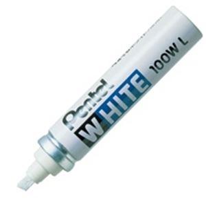 (業務用100セット) ぺんてる 油性マーカー ホワイト X100W-LD 極太