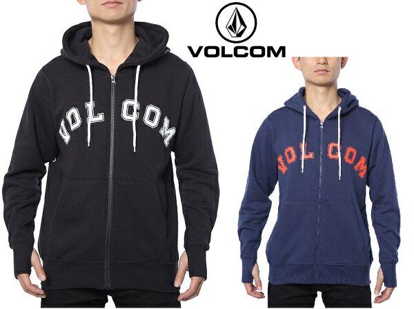 【 正規品 】 2016 秋冬 VOLCOM Arch College Zip HOOD HOODIE 日本限定 JAPAN LIMITED ジップアップ パーカー フーディー アウター ボルコム ヴォルコム A48316JA