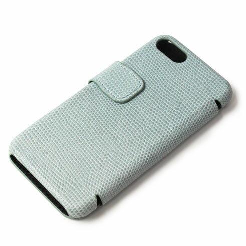 【国内正規品】新作 THE CASE FACTORY ( ザ ケース ファクトリー ) / LIZARD / iPhone 7 / 8 対応 / リザード型押し レザー カードケース【サックス】【送料無料】