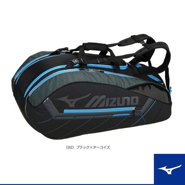 ラケットバッグ/ラケット12本収納可(63JD7001)《ミズノ テニス バッグ》