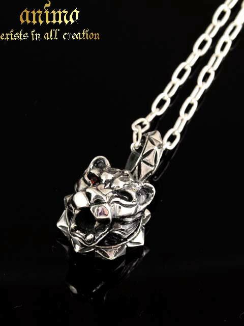 anima exists in all creation[銀豹roar(ロア)](シルバーアクセサリー/シルバーアクセ/シルバー/シルバー925/Silver925/銀/アニマ/ペンダント/ネックレス/メンズ/ガーネット)