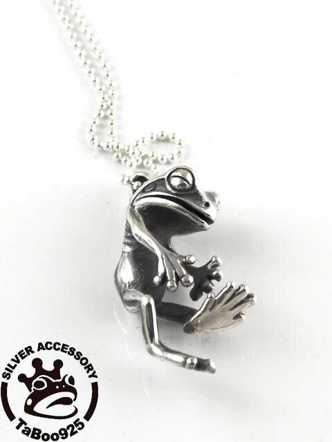TaBoo925[蛙人ペンダント3] (蛙/カエル/かえる/シルバーアクセサリー/シルバーアクセ/シルバー/シルバー925/Silver925/銀/タブー/ネックレス/ペンダント/レディース/ユニセックス)
