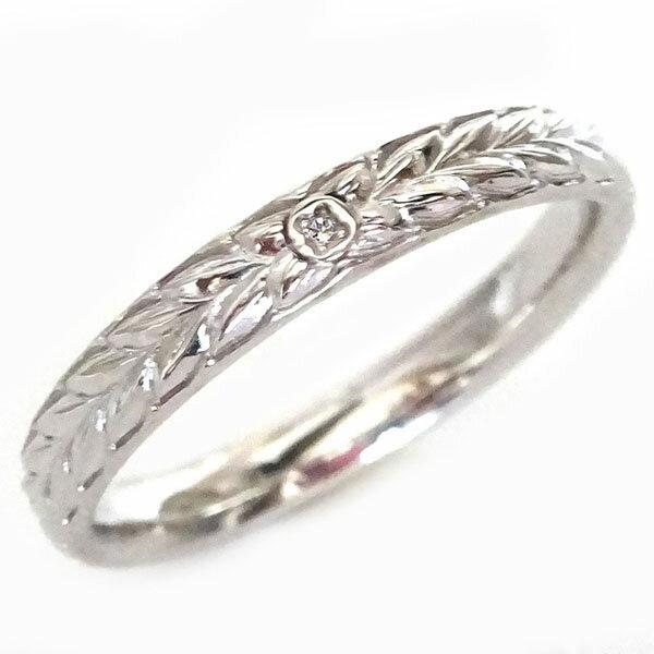 ハワイアン ジュエリー 指輪 ホワイトゴールドk10 メンズ リング ダイヤモンド K10wg マイレ【送料無料】