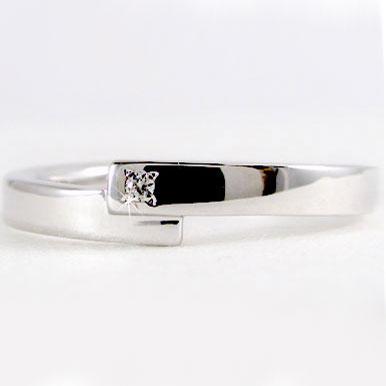 指輪:プラチナ/ダイヤモンドリング/ピンキーリングとしてもおすすめ/ダイヤリング:Pt900指輪ダイヤ0.01ct