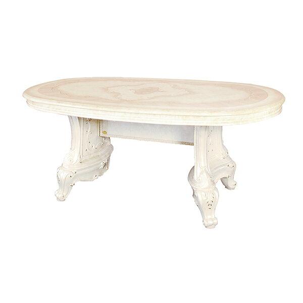 [超ポイント10倍][送料無料] サルタレッリ ヴェルサイユダイニングテーブル アイボリー 幅180cm 白家具 白 ロココ おしゃれ アンティーク デザイン