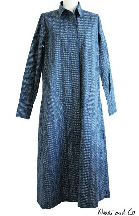 【2016SS】【SALE 50%】Khadi and Coパリブランド・カディ アンドコーBess Nielsenによるデザインコットン cotton ワンピース ロングガウンDRESS-ODESS-BLUEPRINT-COTTONCHEC