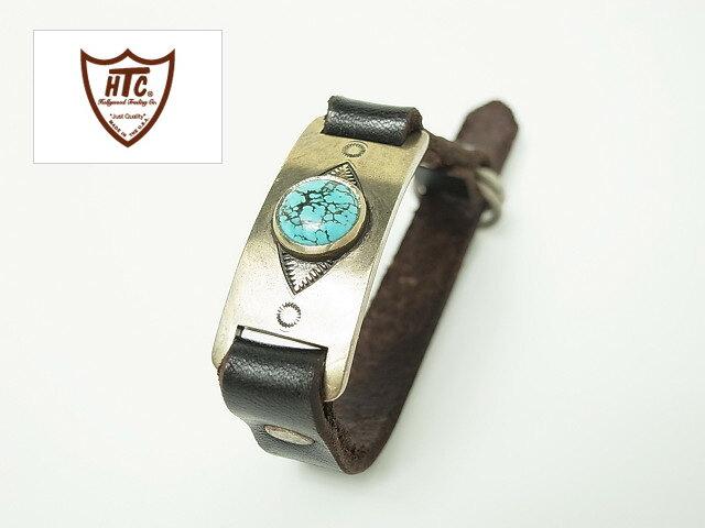 楽天スーパーセール特別価格!!SALE!! HTC [エイチティーシー] BRACELET #ID TURQUOISE [BLACK,DARK BROWN] レザーブレスレット ターコイズ (ブラック,ダークブラウン)