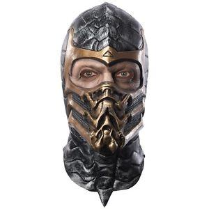Scorpion オーバーヘッド マスク 大人用 男性用 メンズ Mortal Kombat ハロウィン コスチューム コスプレ 衣装 変装 仮装